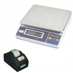 MEASURETEK EHX BENCH SCALE with TALLY ROLL PRINTER | countyscales.co.uk