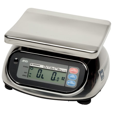 A&D SK-WP TITAN SERIES DUST AND WATERPROOF BENCH SCALE