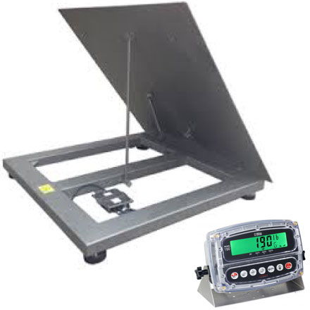 VALUEWEIGH VWSLT190 SERIES STAINLESS LIFT-TOP PLATFORM SCALE