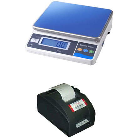 MEASURETEK EHX BENCH SCALE with TALLY ROLL PRINTER Solidly built and simple to operate weight only digital scale