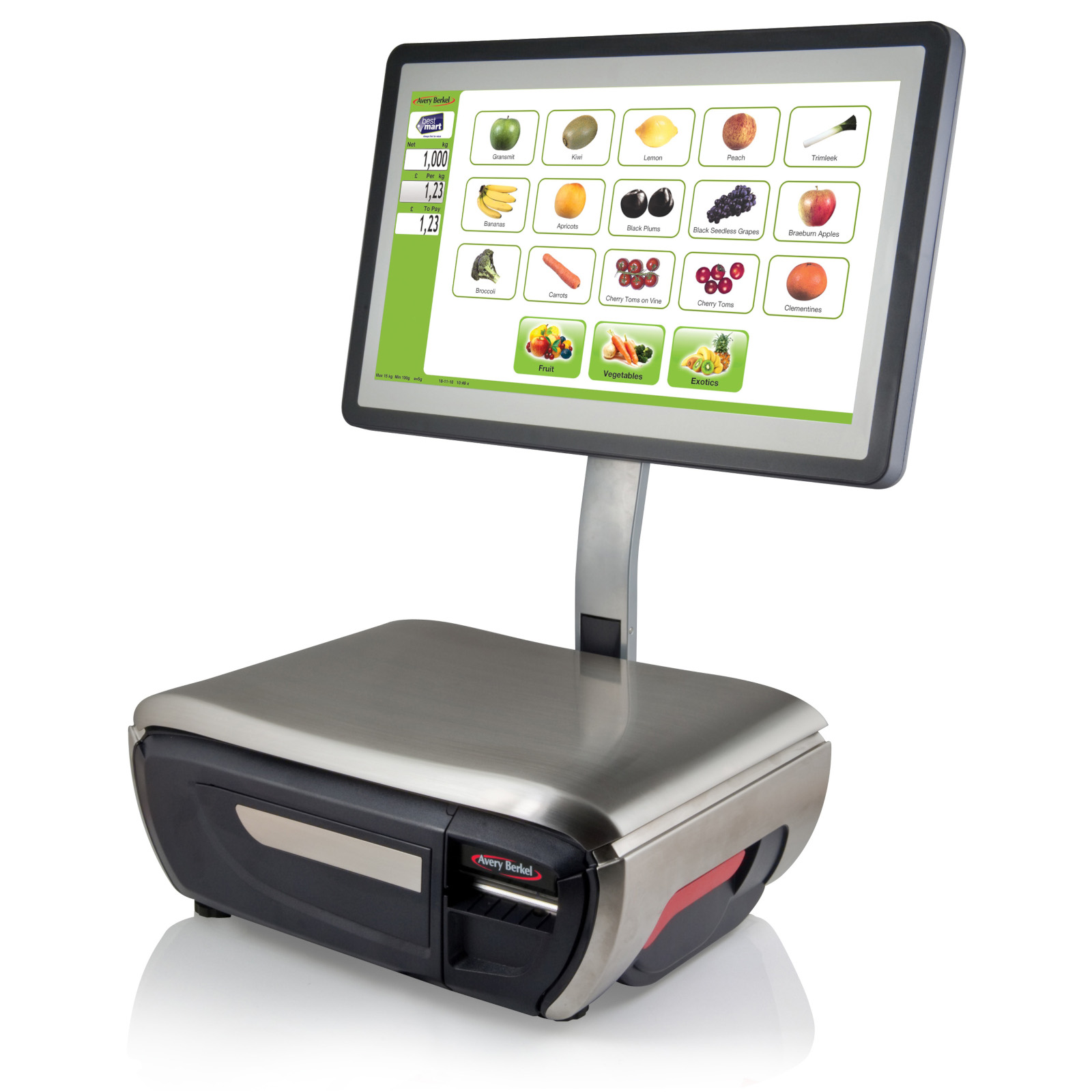 AVERY XTi SERIES | TOUCHSCREEN PRINTING RETAIL SCALE
