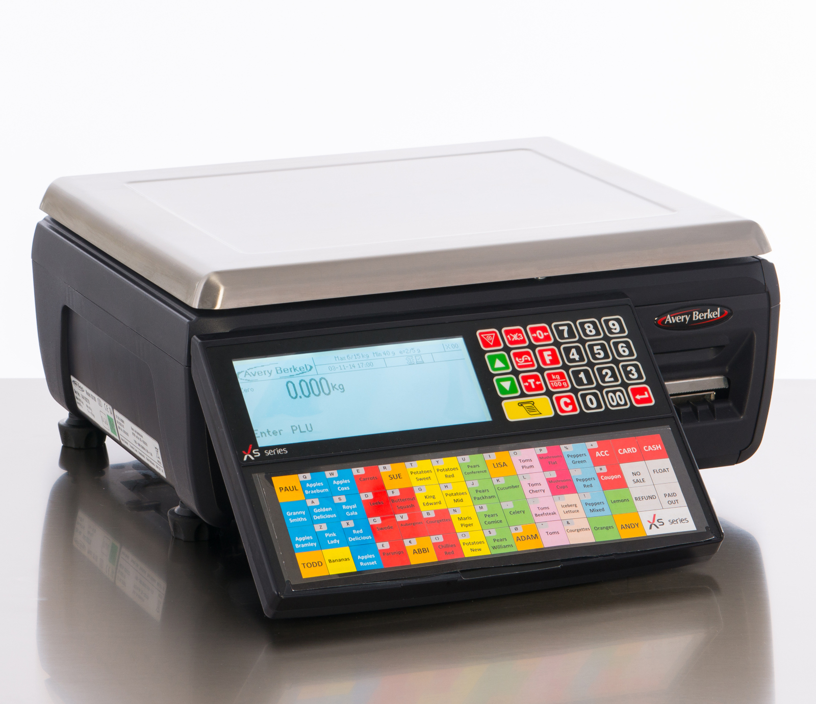 AVERY BERKEL Xs SERIES LABEL/RECEIPT PRINTING RETAIL SCALES