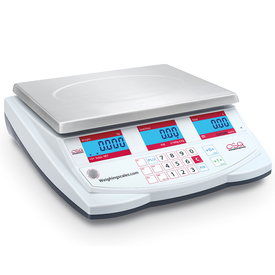 CSG 'CAPTURE' RETAIL SCALES Well designed price computing shop scales