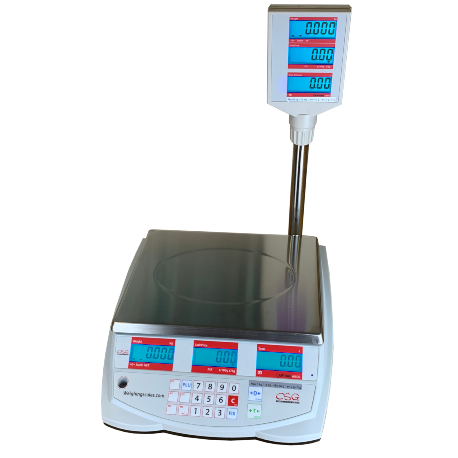 CSG CAPTURE TOWER RETAIL SCALES Well designed price computing shop scales