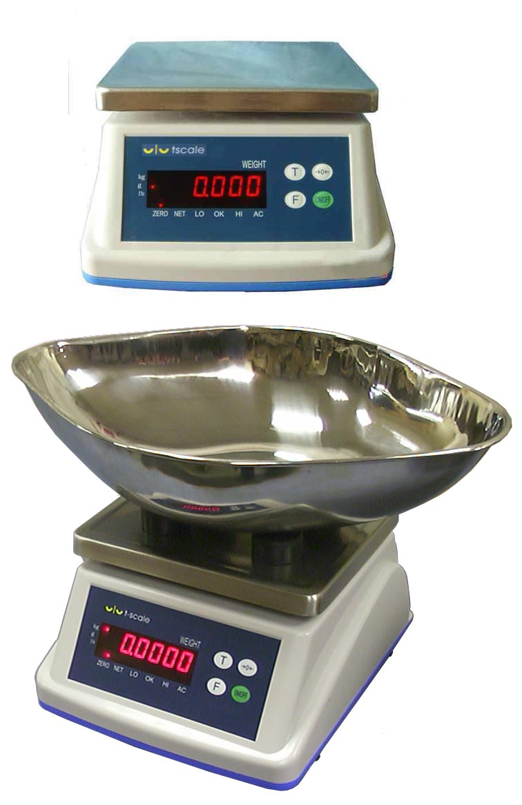 T-SCALE L1 Series ULTRA ROBUST IP68 RATED WATERPROOF BENCH SCALE