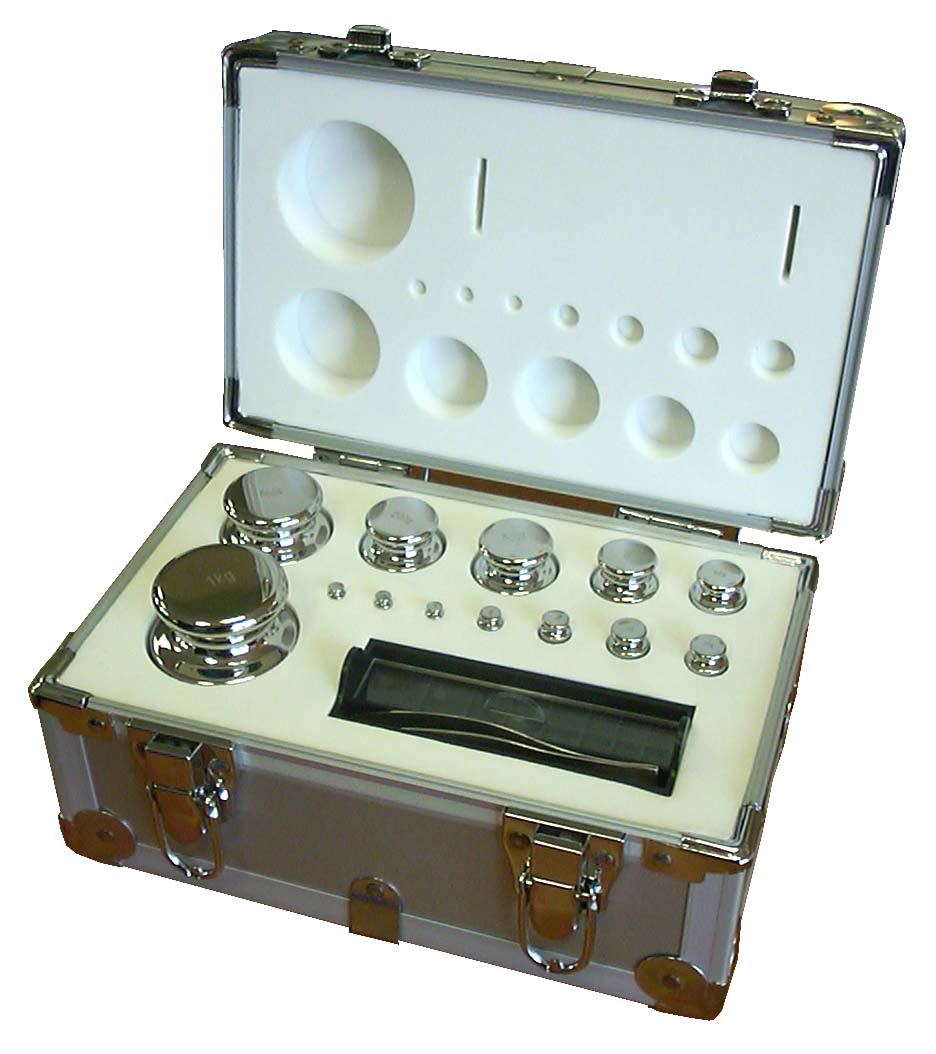BOXED SET OF STAINLESS STEEL CALIBRATION WEIGHTS | countyscales.co.uk