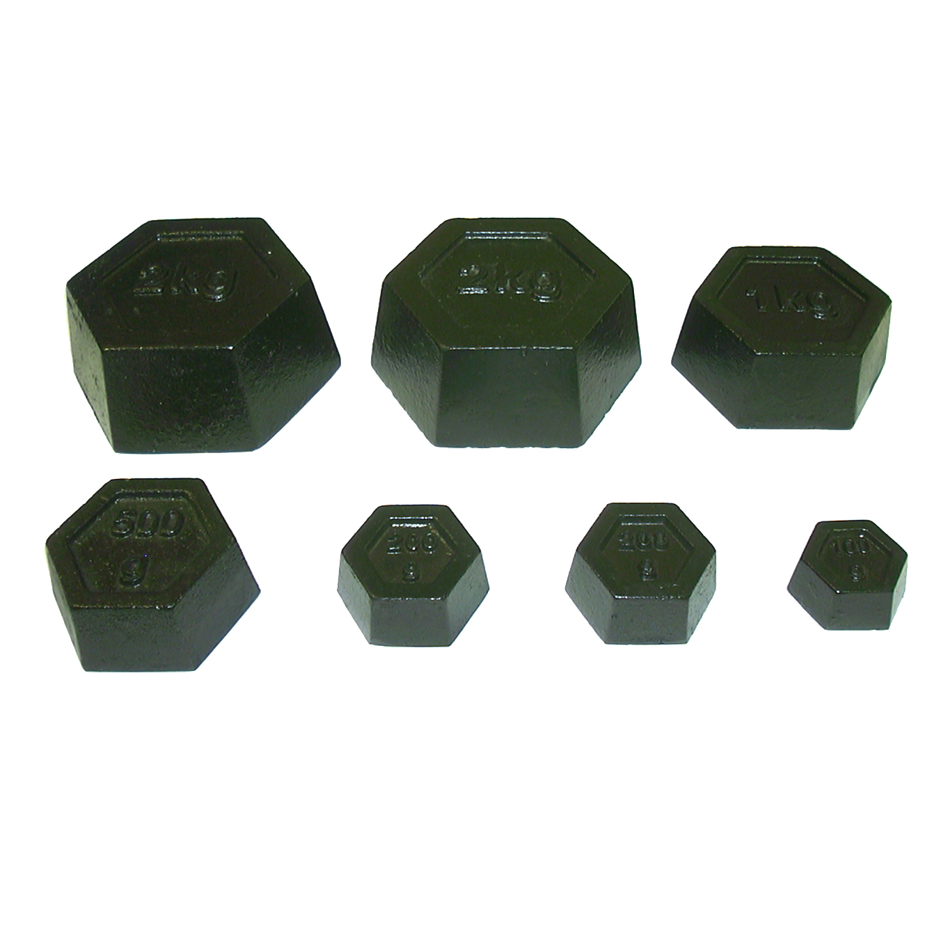 DISCOUNT PREMIER QUALITY METRIC HEXAGONAL CALIBRATION WEIGHT SET